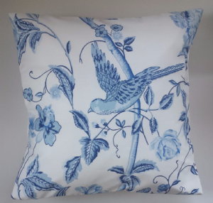 Cushion Cover in Laura Ashley Summer Palace China Blue 16""
